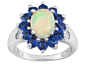 Pre-Owned Multi Color Ethiopian Opal Sterling Silver Ring 2.17ctw.