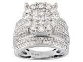 Pre-Owned Cubic Zirconia Silver Ring 5.95ctw