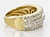 Pre-Owned 14k Yellow Gold Over Sterling Silver Diamond Ring 1.00ctw