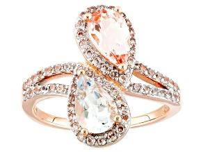 Pre-Owned Pink Morganite 14k Rose Gold Ring 1.98ctw