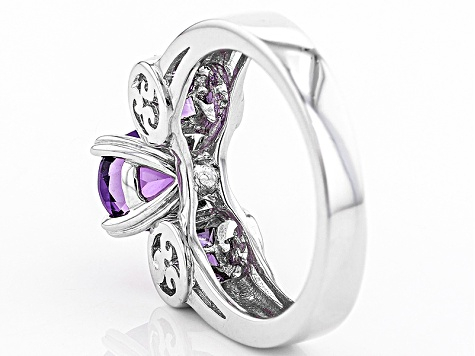 Pre-Owned Purple Amethyst Sterling Silver Ring 2.01ctw