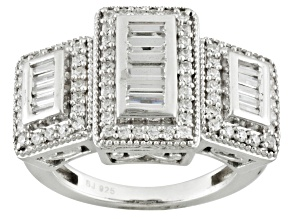 Pre-Owned Cubic Zirconia Silver Ring 2.20ctw (1.40ctw DEW)