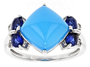 Pre-Owned Blue Chalcedony Sterling Silver Ring .68ctw
