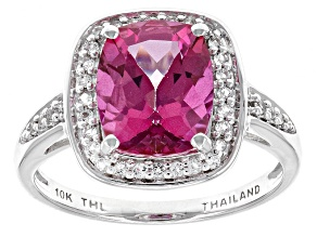 Pre-Owned Pure Pink™ Topaz 10k White Gold Ring 3.48ctw