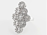 Pre-Owned Cubic Zirconia Silver Ring 4.20ctw (2.70ctw DEW)