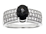 Pre-Owned Titanium Spinel Sterling Silver Ring 1.70ctw