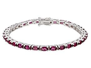 Pre-Owned Purple Rhodolite Sterling Silver Bracelet 8.38ctw