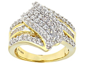 Pre-Owned Cubic Zirconia 18k Yellow Gold Over Silver Ring 2.60ctw (1.68ctw DEW)