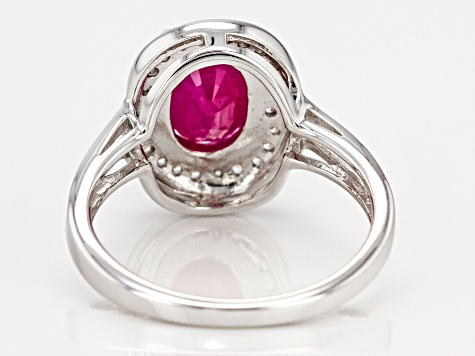 Pre-Owned Red Kenya Ruby Rhodium Over Silver Ring 2.46ctw