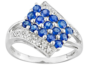 Pre-Owned Blue Kanchanaburi Sapphire Sterling Silver Ring 1.00ctw