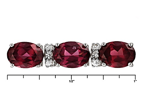 Pre-Owned Purple Rhodolite 19.00ctw And White Zircon 1.15ctw