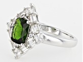 Pre-Owned Green Russian Chrome Diopside Sterling Silver Ring 3.02ctw