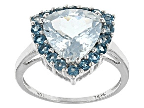 Pre-Owned Blue Aquamarine 10k White Gold Ring 2.60ctw