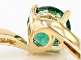 Pre-Owned Green Apatite 10k Yellow Gold Ring 1.38ctw