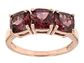 Pre-Owned Purple Garnet 10k Rose Gold Ring 2.81ctw