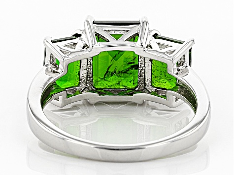 Pre-Owned Green Chrome Diopside Sterling Silver Ring 4.52ctw