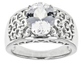 Pre-Owned White Brazilian Goshenite Sterling Silver Solitaire Ring 1.91ct