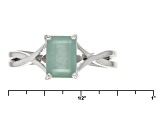Pre-Owned Green Grandidierite Sterling Silver Ring 1.09ct