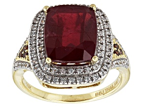 Pre-Owned Mahaleo Ruby 10k Yellow Gold Ring 6.35ctw
