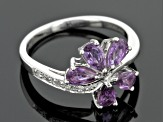 Pre-Owned Purple Ceylon Sapphire Sterling Silver Ring 1.27ctw