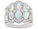 Pre-Owned Ethiopian Opal Sterling Silver Ring 3.24ctw