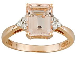 Pre-Owned Pink Morganite 10k Rose Gold Ring 1.83ctw.
