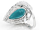 Pre-Owned Blue Fluorite Sterling Silver Ring 7.81ctw