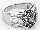 Pre-Owned Gray Titanium Spinel Sterling Silver Ring 2.29ctw