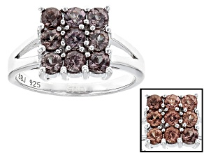 Pre-Owned Brown Color Change Garnet Silver Ring 1.01ctw
