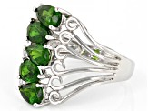 Pre-Owned Green Chrome Diopside Sterling Silver Ring 1.91ctw