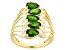 Pre-Owned Green Chrome Diopside 18k Gold Over Silver Ring 1.75ctw