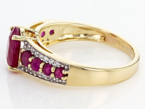 Pre-Owned Red Burmese Ruby 14k Yellow Gold Ring 1.99ctw