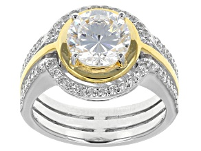Pre-Owned White Cubic Zirconia Two-Tone Ring 3.99ctw