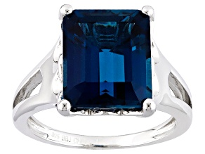Pre-Owned London Blue Topaz Sterling Silver Ring 6.37ct
