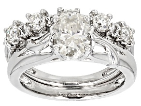 Pre-Owned Moissanite Platineve Ring 2.15ctw D.E.W