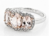 Pre-Owned Pink Morganite Sterling Silver Ring 2.11ctw