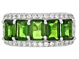 Pre-Owned Green Chrome Diopside Silver Ring 3.48ctw