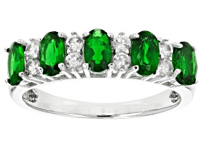 Pre-Owned Green Chrome Diopside Sterling Silver Ring 1.66ctw