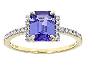Pre-Owned Blue Tanzanite 14k Yellow Gold Ring 1.64ctw