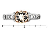 Pre-Owned Pink Morganite Sterling Silver Ring 1.45ctw