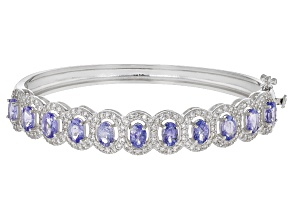 Pre-Owned Blue Tanzanite Sterling Silver Bracelet 8.00ctw