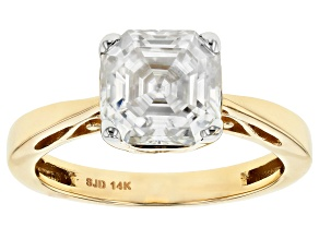 Pre-Owned Moissanite 14k Yellow Gold Ring 2.96ctw DEW