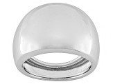 Pre-Owned 10k White Gold Hollow Comfort Fit Polished Band Ring With Tapered Shank