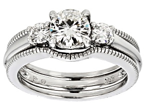 Pre-Owned Moissanite Platineve Ring 1.06ctw D.E.W