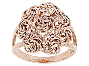 Pre-Owned 10k Rose Gold Hollow Rosetta Ring