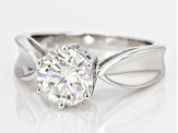 Pre-Owned Moissanite Ring Platineve 1.90ct DEW