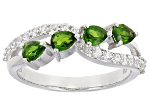 Pre-Owned Green Chrome Diopside Sterling Silver Ring 1.30ctw