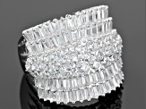 Pre-Owned White Cubic Zirconia Sterling Silver Ring 7.14ctw
