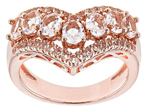 Pre-Owned Pink Morganite 14k Gold Over Sterling Silver Ring 1.37ctw