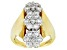 Pre-Owned Moissanite Ring 14k Yellow Gold Over Silver 2.10ctw DEW